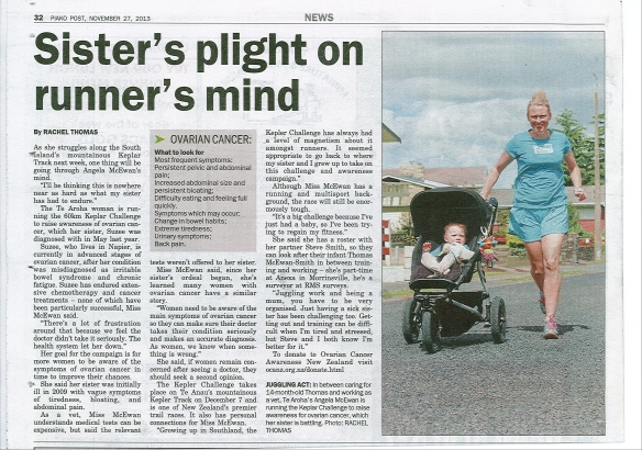 Angela McEwan in the Piako Post